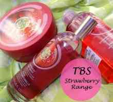 The Body Shop jordgubbar range recensioner: body butter, kropp mist, duschtvål