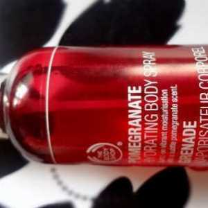 The Body Shop granatäpple fuktbodyspray översyn